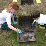 Ditcham Park School at Heath Barrows dig