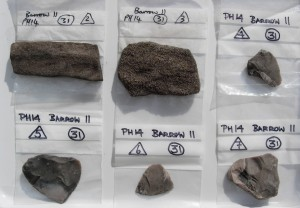 Lithic finds from the 'coffin'