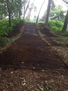 Barrow 1 trench
